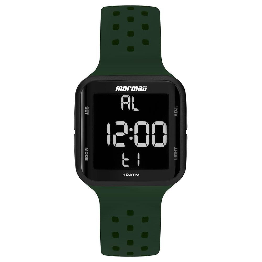 Relógio Unissex Mormaii Wave Digital MO6600AC/8V 38mm Silicone Verde