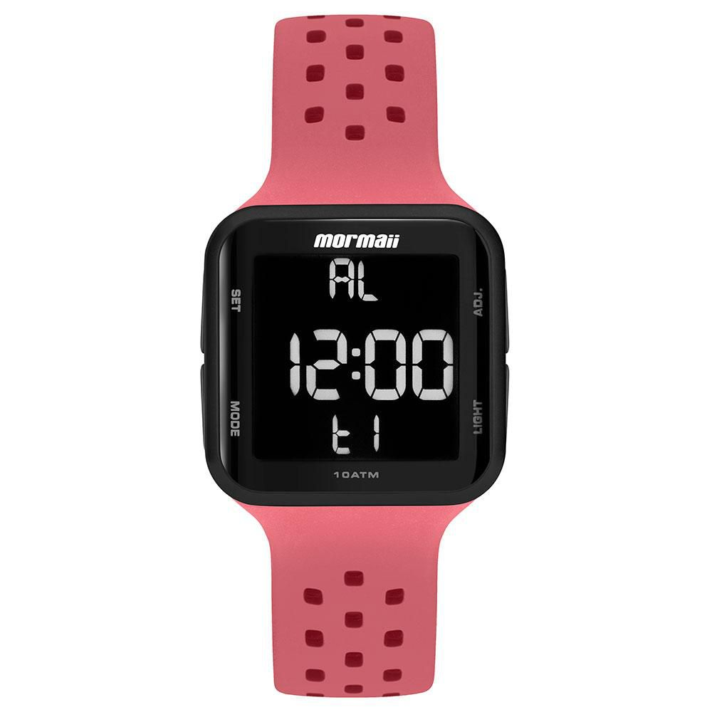 Relógio Unissex Mormaii Wave Digital MO6600AE/8T 38mm Silicone Rosa