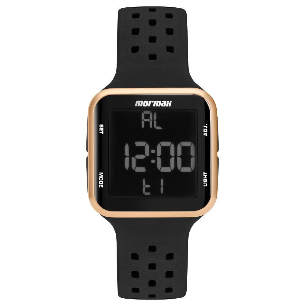 Relógio Unissex Mormaii Wave MO6600/8J 38mm Silicone Preto