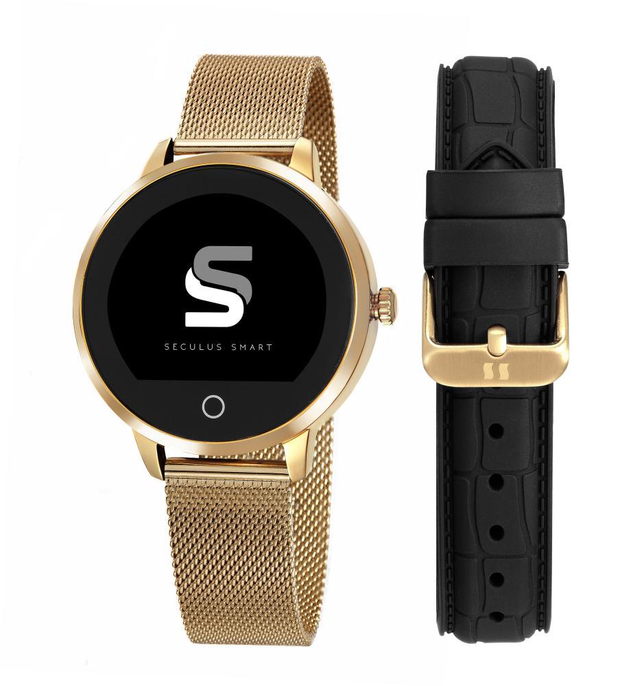 Relógio Unissex Seculus Smartwatch 79003LPSVDA2 43mm Aço Dourado