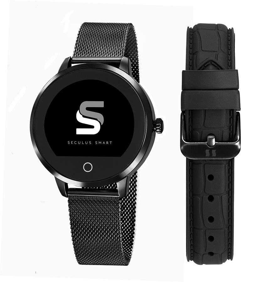 Relógio Unissex Seculus Smartwatch 79003LPSVPA3 43mm Aço Preto
