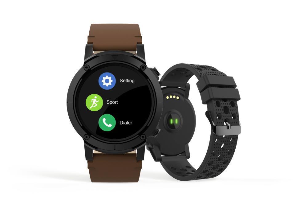 Relógio Unissex Seculus Smartwatch 79004G0SVNV2 49mm Couro Marrom