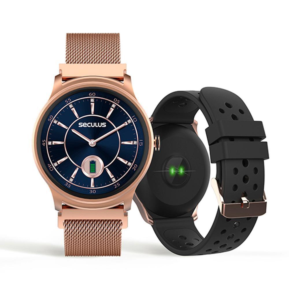 Relógio Unissex Seculus Smartwatch 79005LPSVRE1 49mm Aço Rosé