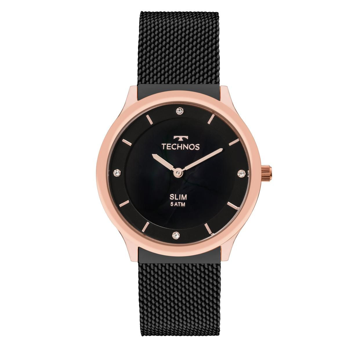 Relógio Unissex Technos Slim GL20HI/4P  40mm Preto
