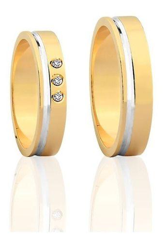 Alianças De Ouro 18k Cuore 4,5mm 9 Gramas Casamento Noivado