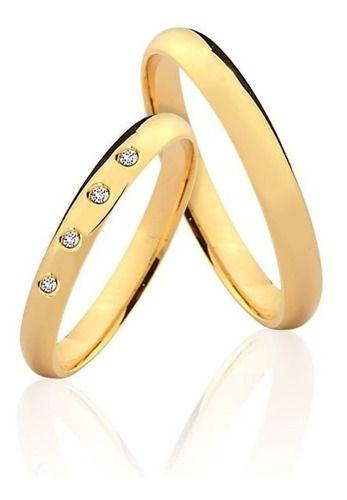 Alianças De Ouro 18k Asti 3mm 6 Gramas Casamento Noivado