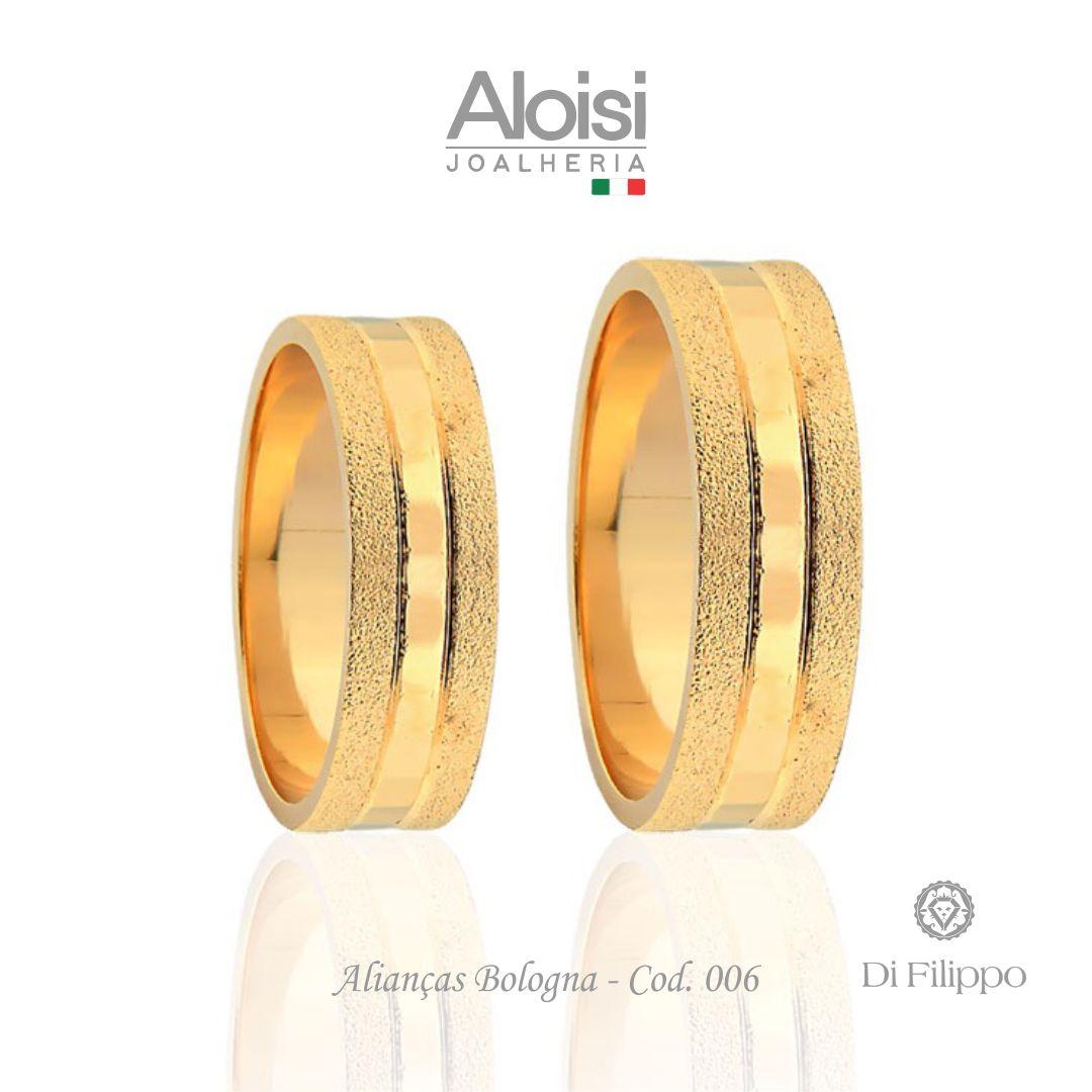Aliança Casamento Ouro Amarelo 18k - Bologna - Di Filippo