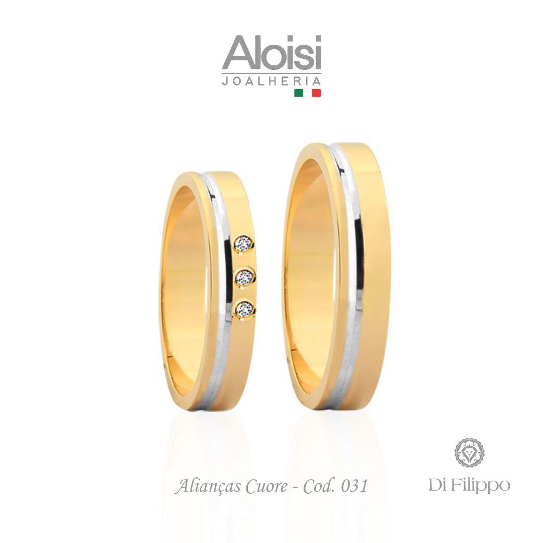 Par De Alianças Casamento Ouro Amarelo 18k - Cuore - Di Filippo