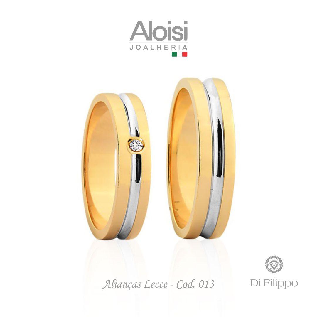 Par De Alianças Casamento Ouro Amarelo 18k - Lecce - Di Filippo
