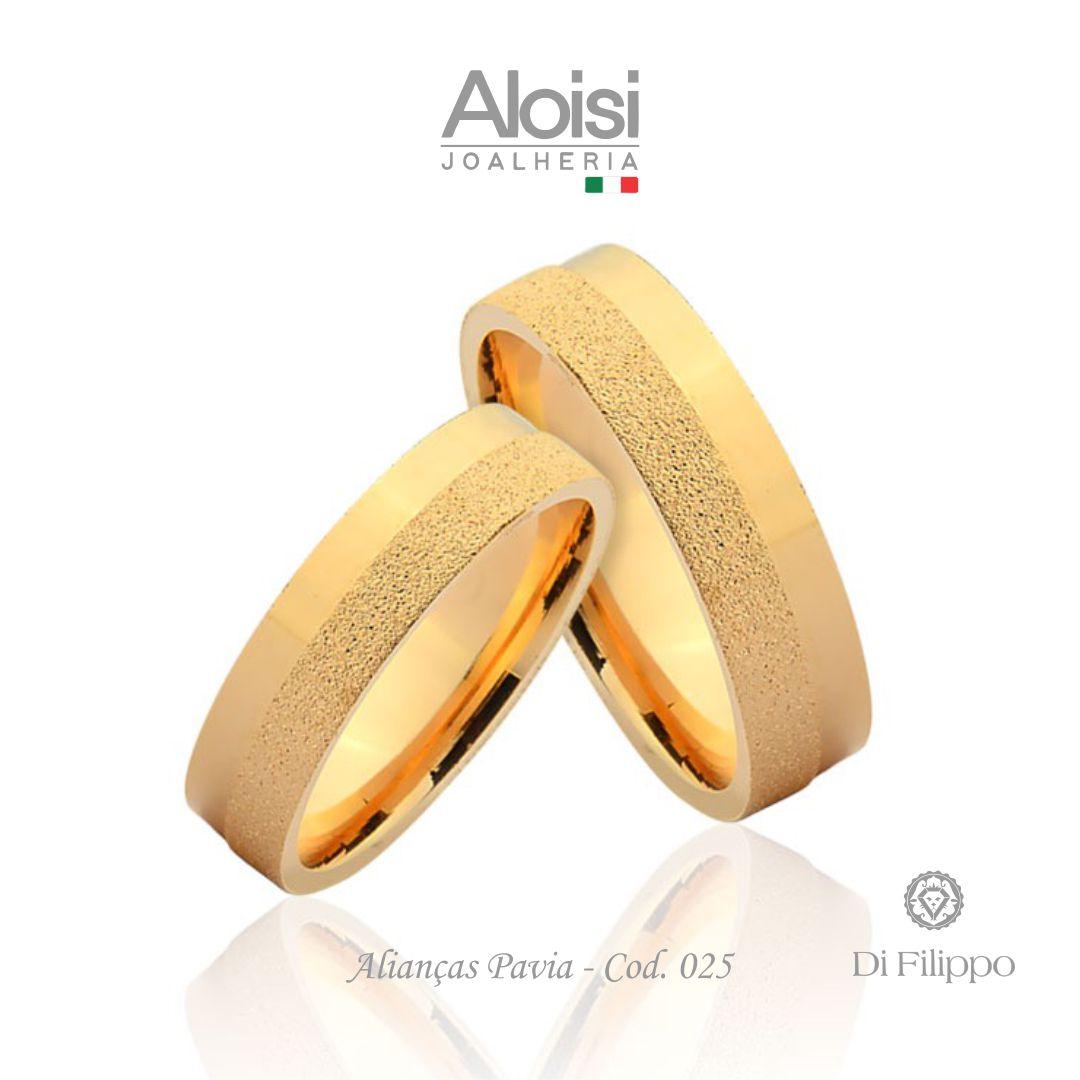 Aliança Casamento Ouro Amarelo 18k - Pavia - Di Filippo