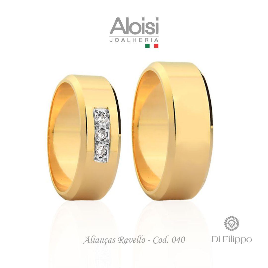Aliança Casamento Ouro Amarelo 18k - Ravello - Di Filippo