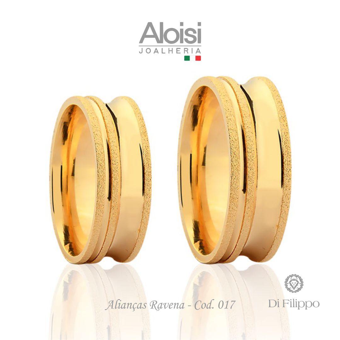 Par De Alianças Casamento Ouro Amarelo 18k - Ravena - Di Filippo