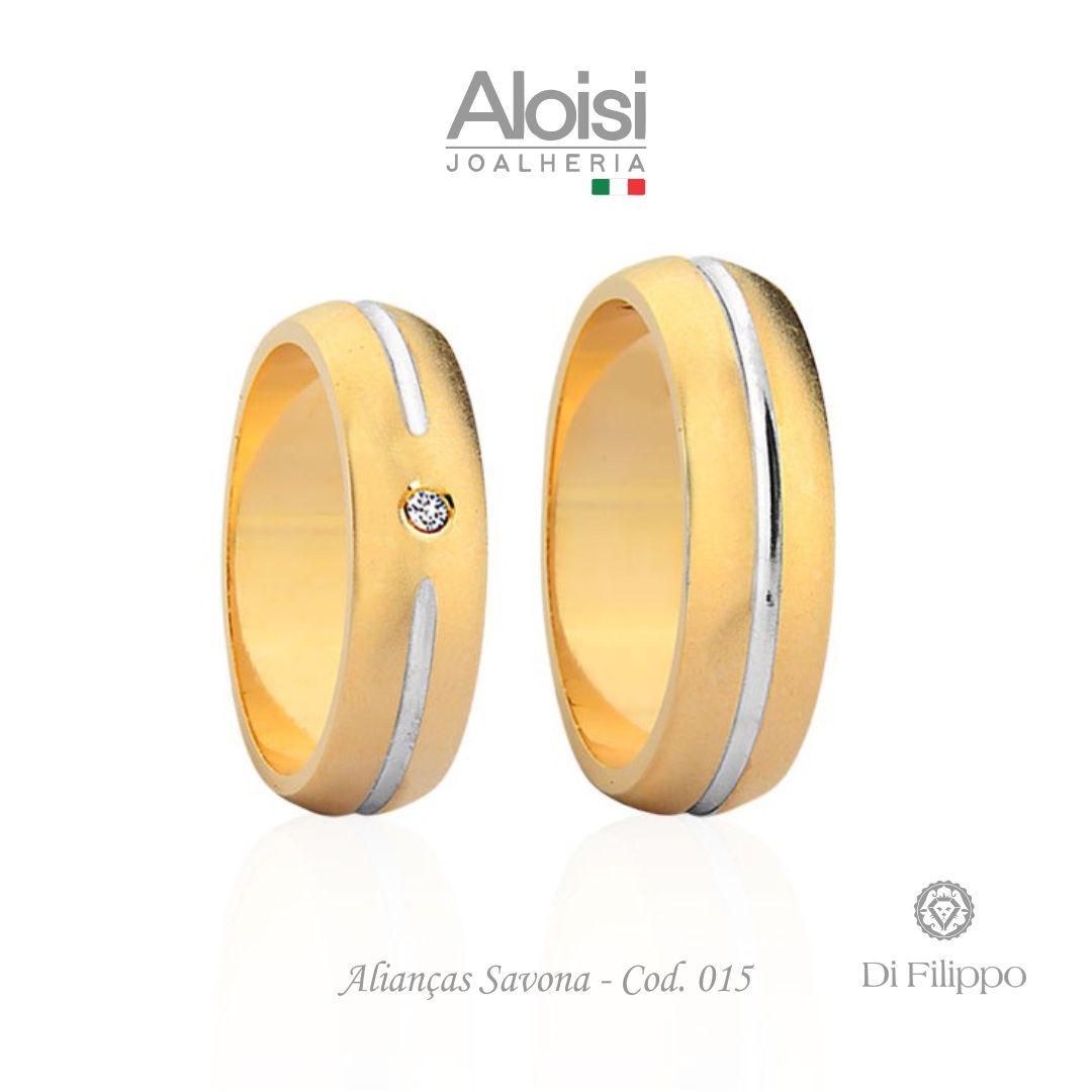 Aliança Casamento Ouro Amarelo 18k - Savona - Di Filippo