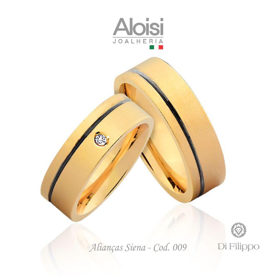Aliança Casamento Ouro Amarelo 18k - Siena - Di Filippo