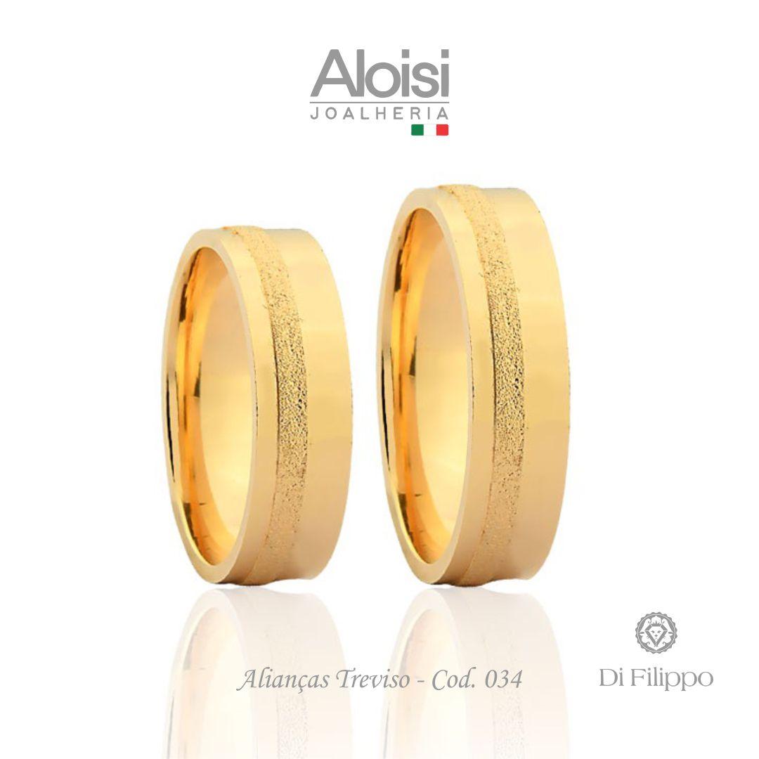 Aliança Casamento Ouro Amarelo 18k - Treviso - Di Filippo