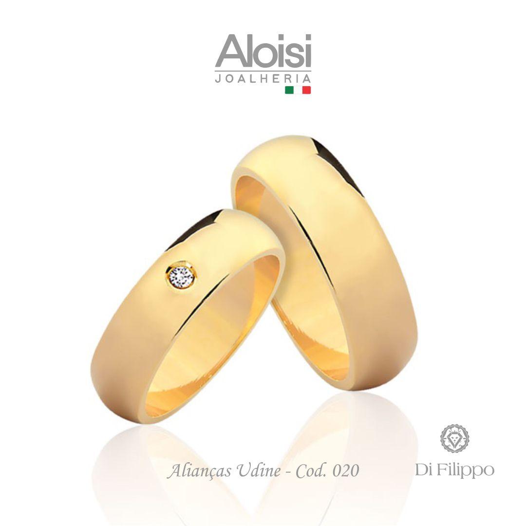 Par De Alianças Casamento Ouro Amarelo 18k - Udine - Di Filippo