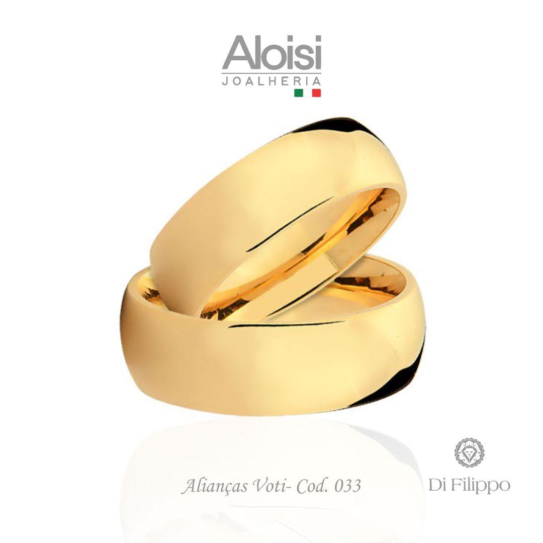 Par De Alianças Casamento Ouro Amarelo 18k - Voti - Di Filippo