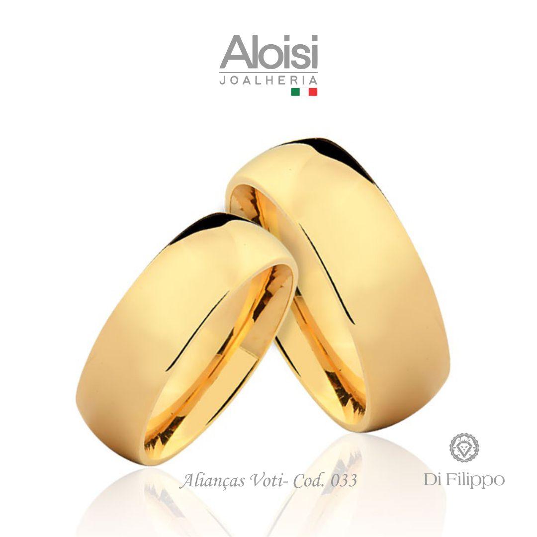 Aliança Casamento Ouro Amarelo 18k - Voti - Di Filippo