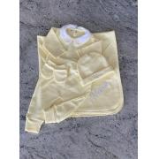 Body manta e touca de bebê personalizadas