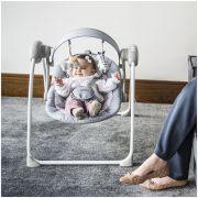 Cadeira De Descanso musical para bebê Mimo Lenox Kiddo Cinza