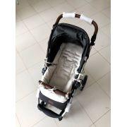 Capa para carrinho de bebê cinza