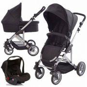 Carrinho + Bebê Conforto + Moisés Como 4 Abc Design Black