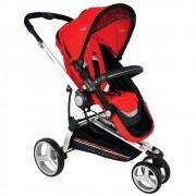 Carrinho de Bebê Kiddo Compass II Reversível - Vermelho Preto