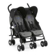 Carrinho de Bebê Para Gêmeos Chicco Echo Twin - Coal