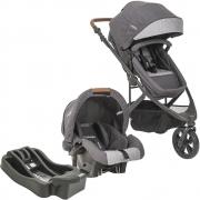 Carrinho De Bebê Trek Melange Grafite + Bebê Conforto E Base Cozycot - Kiddo