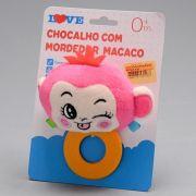 Chocalho Com Mordedor Animais - Macaco love
