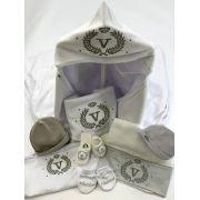 Enxoval bebê personalizado 10 peças em suedine (100%algodão egípcio)