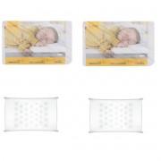 kit 2v Travesseiro para bebê Air Kiddo Branco anti-sufocamento 36x22x4
