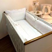 Kit berço branco com bordado