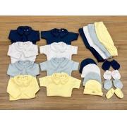 Kit body, mijão, touca e luva de bebe