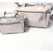 Kit Bolsa e frasqueira classic rosa MB baby
