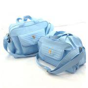 Kit bolsa maternidade classic for baby azul 2 peças