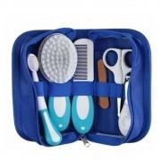 Kit De Cuidados Para Bebê Com Estojo 10 Pçs Azul - Love 8650