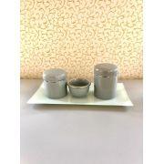 Kit Higiêne para bebê 4 peças luxo porcelana c bandeja