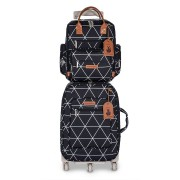 kit mala maternidade mala de rodinha + mochila manhattan masterbag