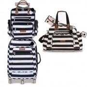 Kit mala maternidade masterbag baby 3 peças c/mala de rodinha