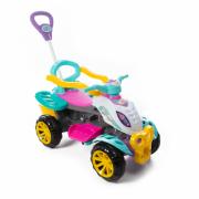 Quadriciclo Infantil Passeio E Pedal Menina Empurrador - Maral