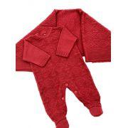 Saida de  maternidade vermelha unissex