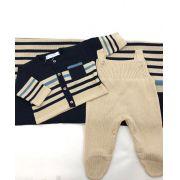 Saida maternidade  masculina tricô marinho