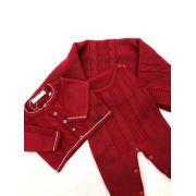saída maternidade vermelha masculino tricot