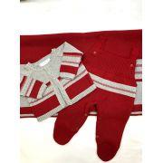 saida maternidade vermelha masculino tricot