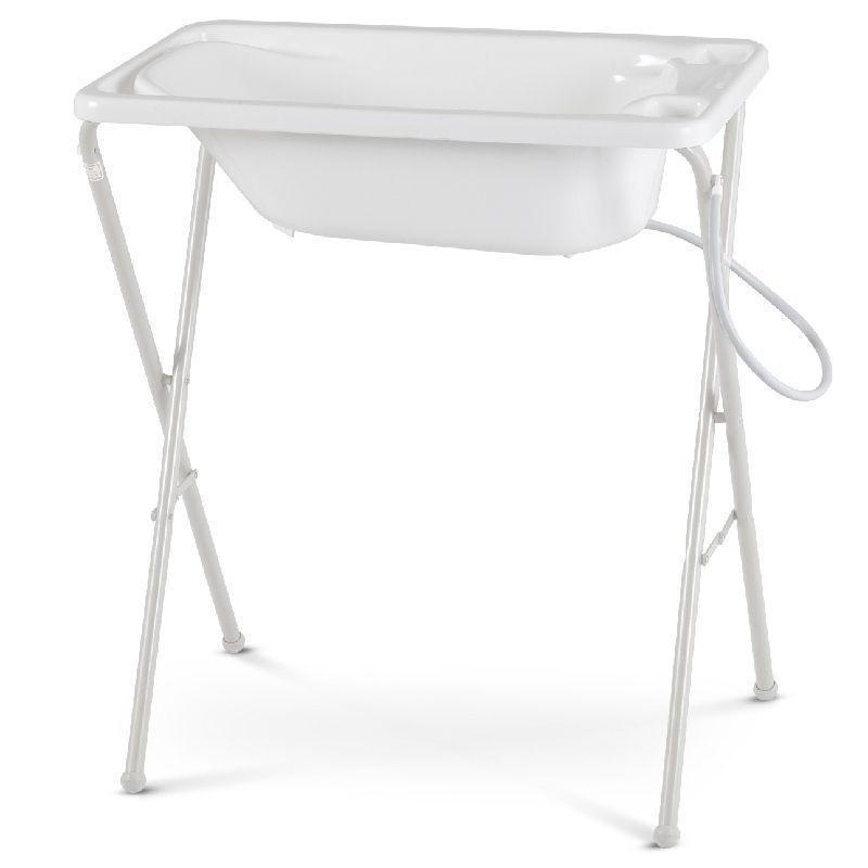 Banheira para Bebê Rígida com Suporte Galzerano Cor Branca