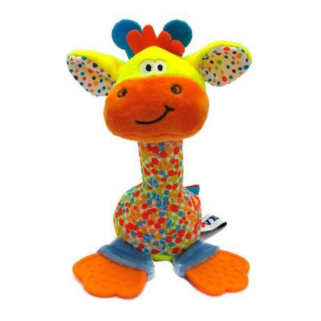 Bebê Mordedor Chocalho e Mordedor de Pelúcia - Girafa - Love
