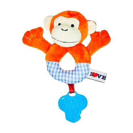 Chocalho com Mordedor - Animais - Macaco - Love