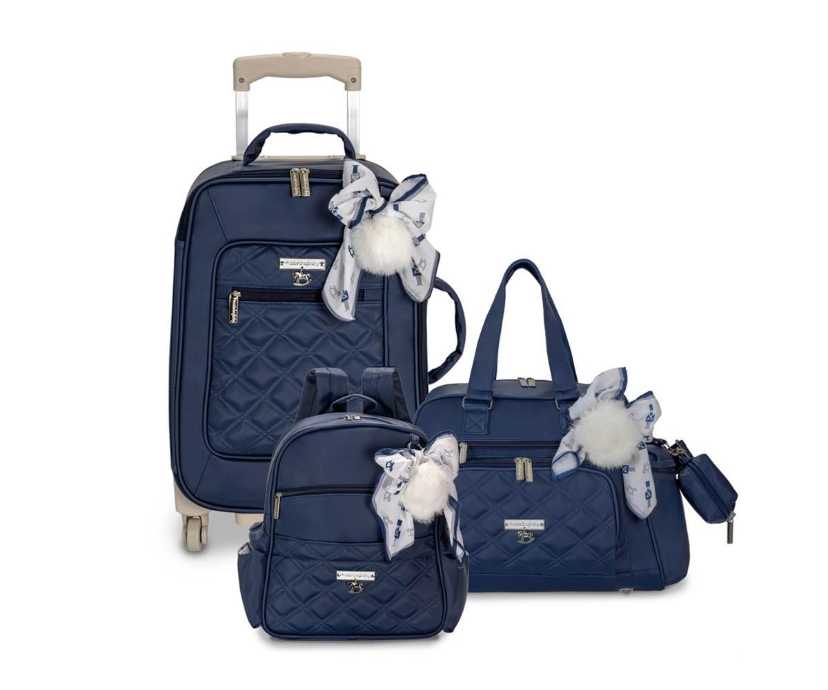 Kit 3 Peças Soldadinho bolsa +mala+mochila  - Masterbag Baby