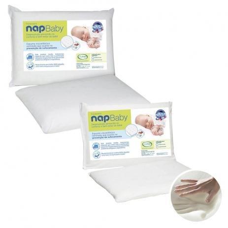 Kit c/ 2 travesseiro nap baby + repelente chicco